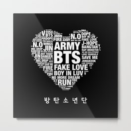 BTS ARMY Fan Art : Typography Metal Print