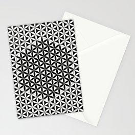 Flower of Life White Black Stationery Cards
