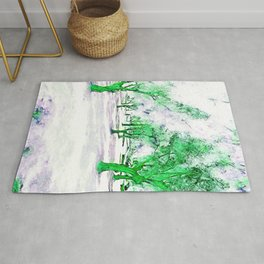 White City garden with trees. Photography and design. Rug