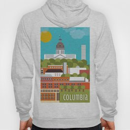 Columbia, South Carolina - Skyline Illustration by Loose Petals Hoody