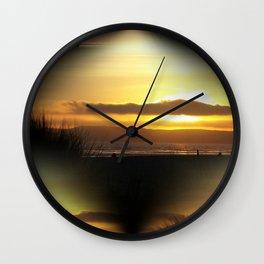 Sunset on Coronado Wall Clock