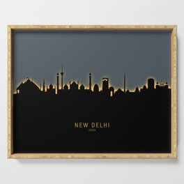 New Delhi India Skyline Serving Tray