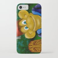 fez iPhone & iPod Cases featuring Chimp in a Fez by Gene S Morgan