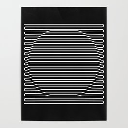 Circle over black Poster