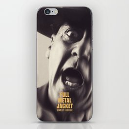 Full Metal Jacket, Stanley Kubrick, alternative movie poster, minimalist print, Vietnam War, Marines iPhone Skin