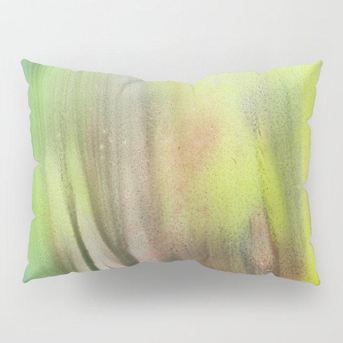 Waterfall of colors - abstract landscape watercolor monotype Pillow Sham
