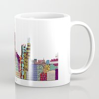 chicago Mugs featuring Chicago  by bri.buckley