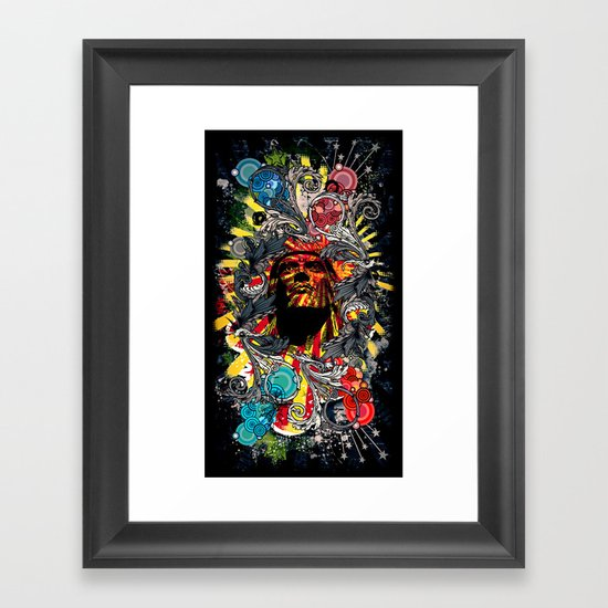 He shall return. Framed Art Print