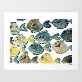 Blue Tang Art Print