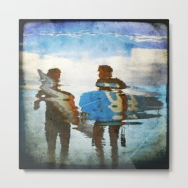 Two surfers Metal Print