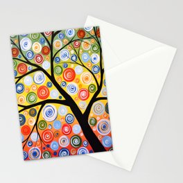 Abstract Art Landscape Original Painting ... Sky of Stars Stationery Cards