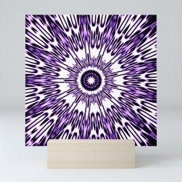Purple White Black Explosion Mini Art Print
