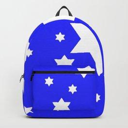 WHITE STARS ON BLUE DESIGN ART Backpack