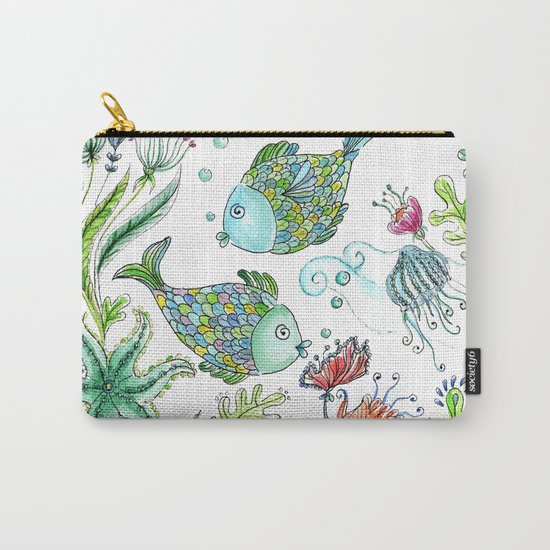 2 fishes Carry-All Pouch