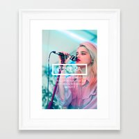 sky ferreira Framed Art Prints featuring Sky Ferreira by ScarTissue