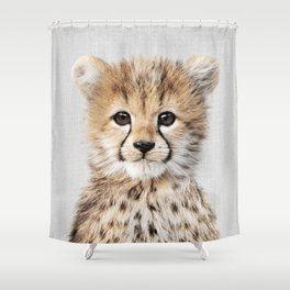 Baby Cheetah - Colorful Shower Curtain