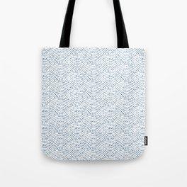 Ink dot scales - Pantone 2020 classic blue Tote Bag
