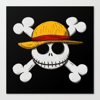 luffy Canvas Prints featuring Jack Luffy by le.duc