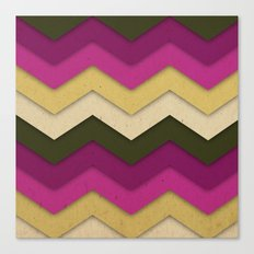 Flower Field Chevron Canvas Print