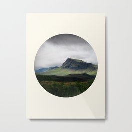 Cloudy Cliff Metal Print