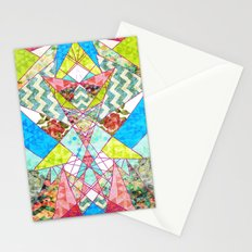 Geometric Quilt Stationery Cards