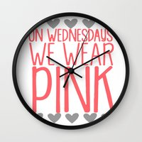 mean girls Wall Clocks featuring Mean Girls by GeekCircus