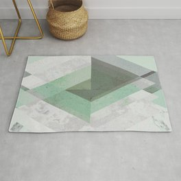 MINT TEAL GRAY CONCRETE abstract Rug