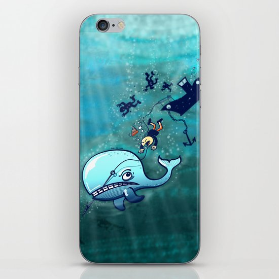Whales are Furious! iPhone & iPod Skin