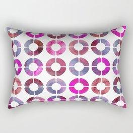 Watercolor Rings - Magenta & Jean Rectangular Pillow