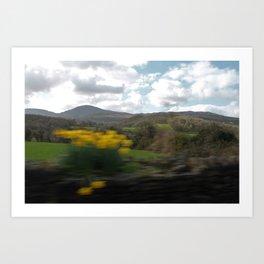 Ireland car ride Art Print