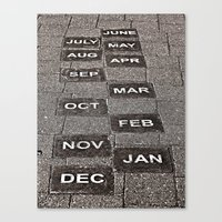 calendar Canvas Prints featuring Calendar Walk by Ethna Gillespie