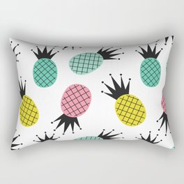colorful cute pineapples  pattern background illustration Rectangular Pillow