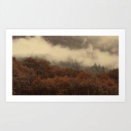 breaking mist Art Print