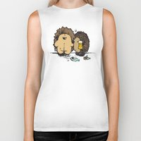 wasted rita Biker Tanks featuring Wasted by mangulica illustrations