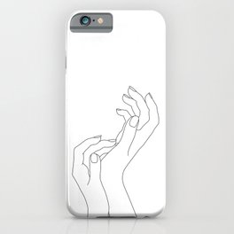 Hands line drawing illustration - Demi iPhone Case