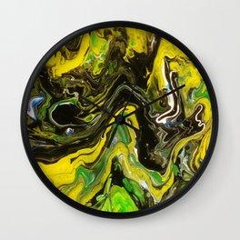 Liquified Rainforest Wall Clock