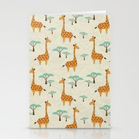 giraffes Stationery Cards featuring Giraffes by BlueLela
