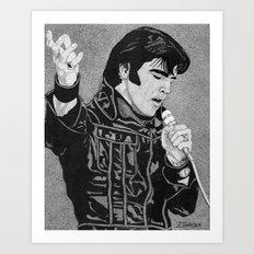 ELVIS '68 Art Print