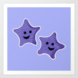 Starfish Friends Art Print