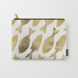 Indonesian Fish Duo – Gold Palette Carry-All Pouch