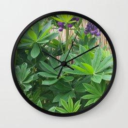 Lila Lupinie Wall Clock