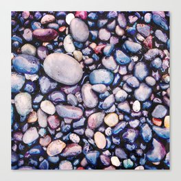 Stones On Beach Canvas Print