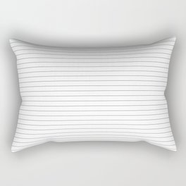 White Black Lines Minimalist Rectangular Pillow