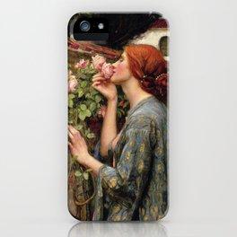 John William Waterhouse, My Sweet Rose, 1908 iPhone Case