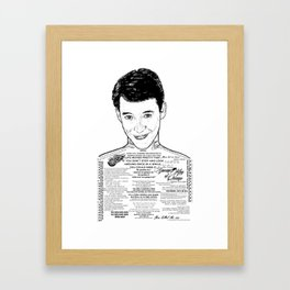 Save Ferris The Righteous Dude - Ink'd Series Framed Art Print