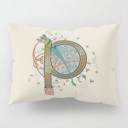 Celtic Initial P Pillow Sham
