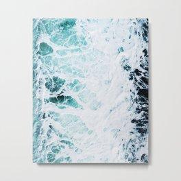 Water, Sea, Ocean, Wave, Blue, Nature, Modern art, Art, Minimal, Wall art Art Print Metal Print