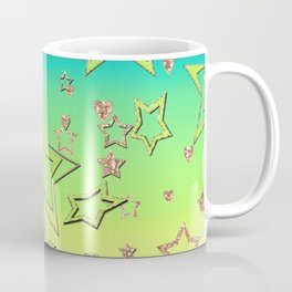 Bright green , neon , stars , lime ,yellow Coffee Mug