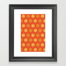 Cute Oranges Picture Pattern Framed Art Print