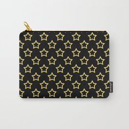 Stars. Gold and black pattern. Carry-All Pouch